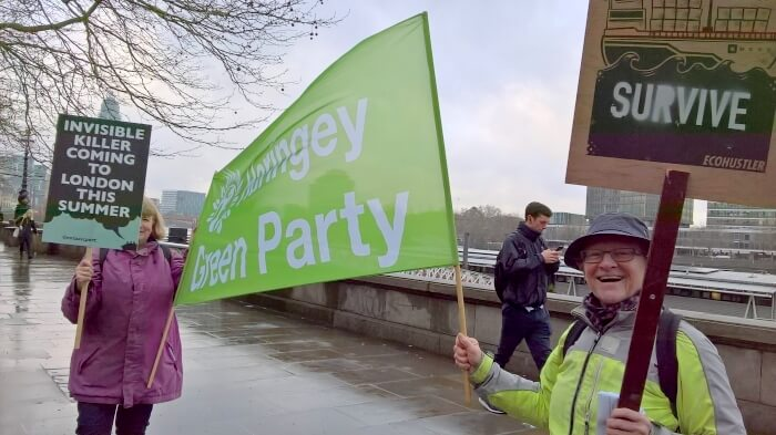 Enfield and Haringey Greens at the IMO protest in April 2018 1